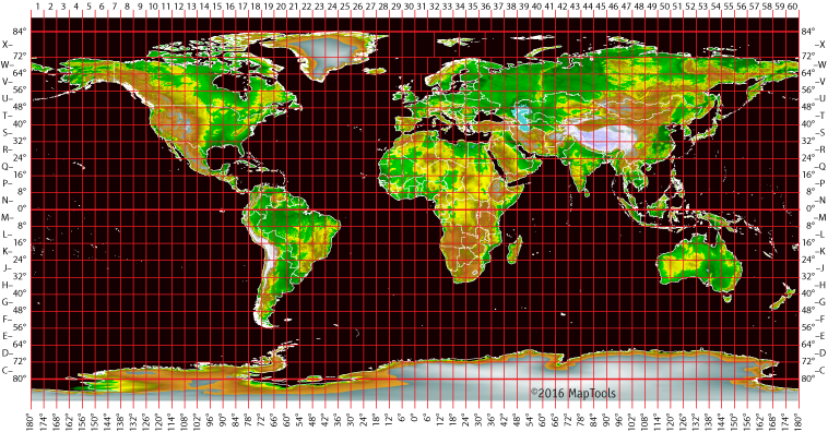 More details about utm grid zones the utm coordinate system divides the earth into 60 zones each 6 degrees of longitude wide these zones define the reference point for utm grid coordinates gumiabroncs Gallery