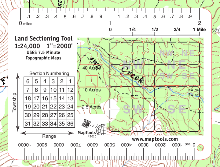 MapTools Product -- Land Sectioning Tool for 1:24,000
