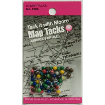 MapTools Product Map Tacks Map Flags - Package of map colors