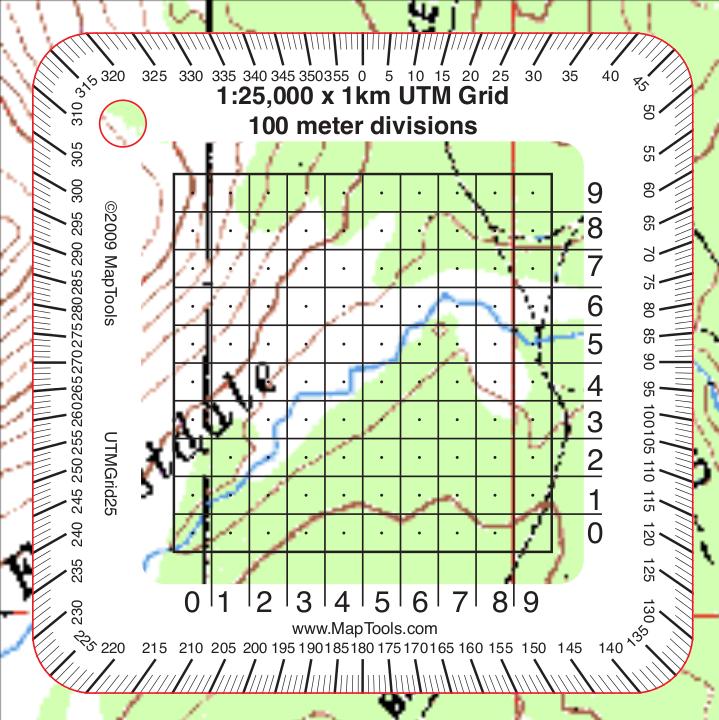 MapTools Product -- 1:25,000 Scale Pocket Size UTM Grid